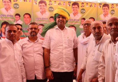 उपमुख्यमंत्री दुष्यंत चौटाला का करनेरा गांव के लोगों ने किया जोरदार स्वागत,गांव को दी बडी सौगात।